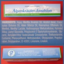 Emulsja - balsam z ziół alpejskich Alpenkrauter