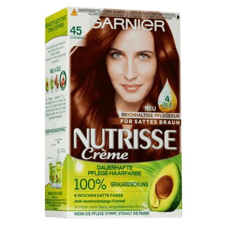 Garnier Nutrisse Creme nr 45 czekolada. Farba do włosów.