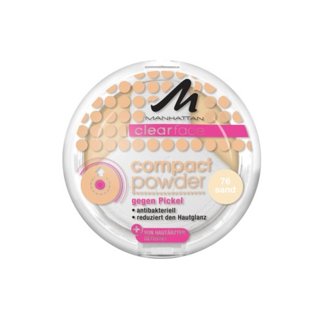 Manhattan Clearface Compact 76 Sand. 9g. Puder.
