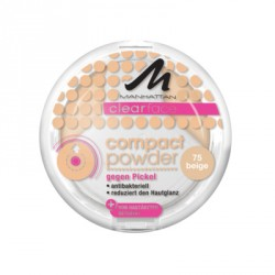 Manhattan Clearface Compact 75 Beige. 9g. Puder.