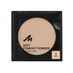 Manhattan Soft Compact Powder 3 Beige 9g. Puder w kamieniu.