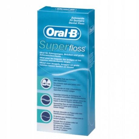 Nić dentystyczna oral-b superfloss super floss