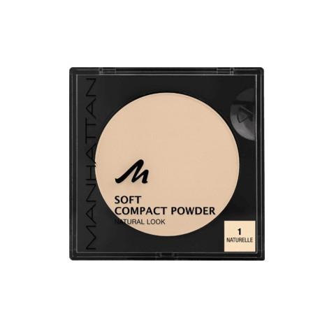 Manhattan Soft Compact Powder 1 Naturelle 9g. Puder w kamieniu