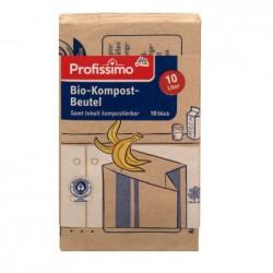 Worki na śmiecie kompostowalne, biodegradowalne. 10 szt 10 litrowe. Papierowe.