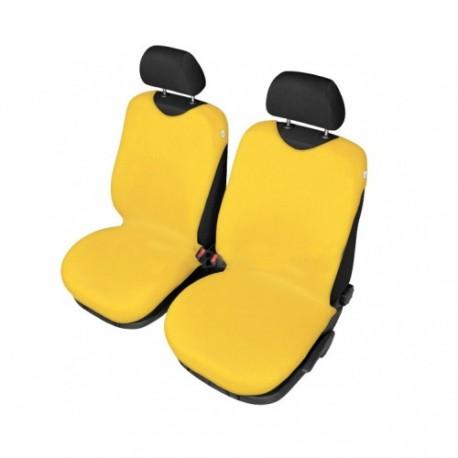 Pokrowce samochodowe przednie, koszulki. Żółte.