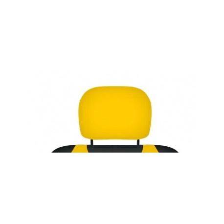 Pokrowce koszulki na zagłówki foteli samochodowych. Żółte