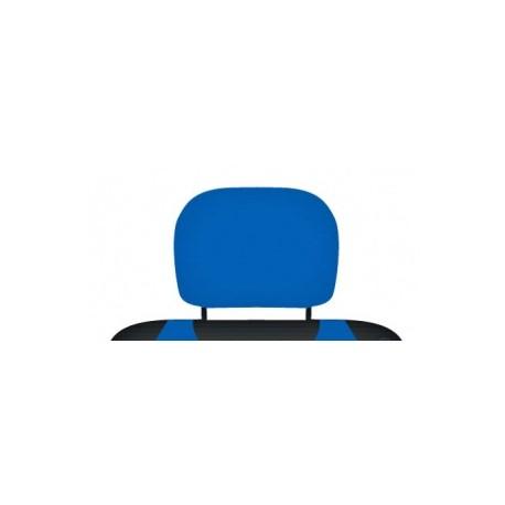 Pokrowce koszulki na zagłówki foteli samochodowych. Niebieskie