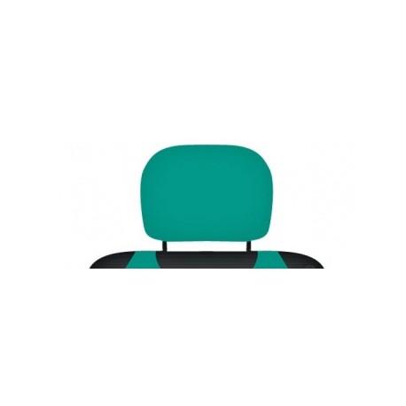 Pokrowce koszulki na zagłówki foteli samochodowych. Zielone/ szmaragdowe