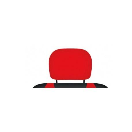 Pokrowce koszulki na zagłówki foteli samochodowych. Czerwone