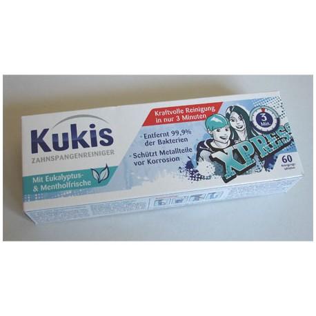 Tabletki do czyszczenia aparatów zębowych 60 Kukis.