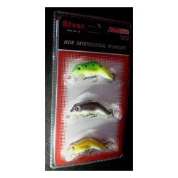 Wobler Robinson żaba 3 sztuki. 5,6cm 7g. Pływające.