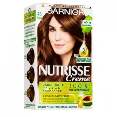 Garnier Nutrisse Creme nr 43 Cappuccino. Farba do włosów.
